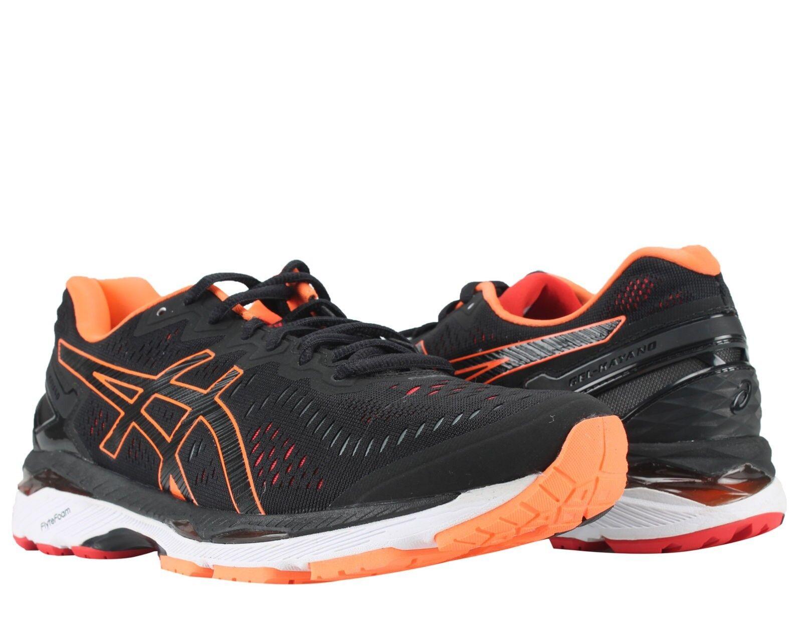 Asics Gel-Kayano 23 Black/Hot Orange/Vermilion Men's Running Shoes T646N-9030