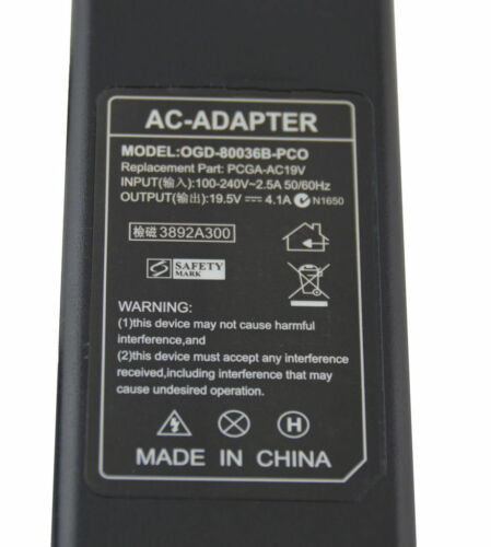 Brand New Sony replacement AC Adapters for VGP-AC19V19 VGP-AC19V12 PCGA-AC19V25