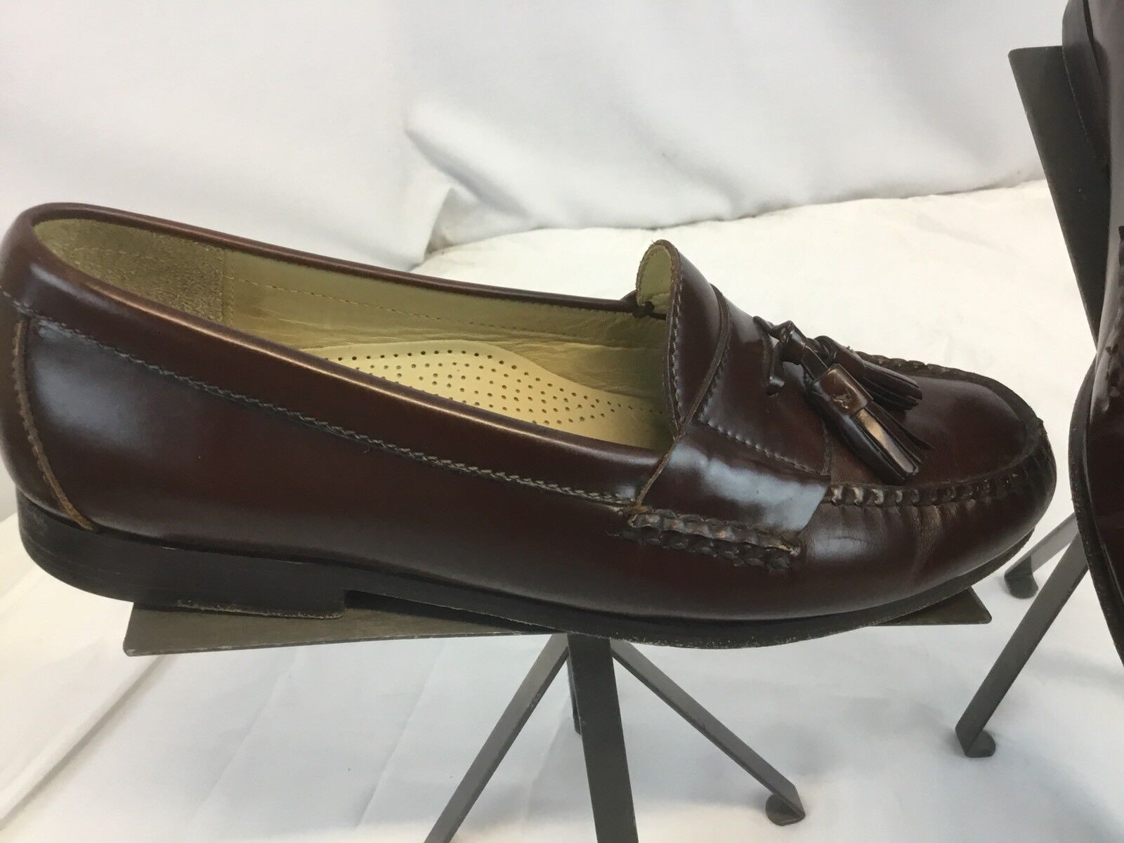 Cole Haan Loafers Shoes Sz 9 E Brown Leather Tassels Worn Twice YGI G8 Scarpe classiche da uomo