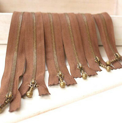 12 15 20 25 30 40 CM DIY Coffee Zippers For Purse or Bags Manufacture NO.3 LLN3