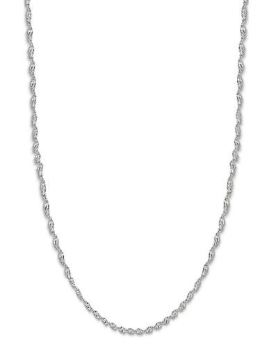 """14K Solid or Blanc Singapour Corde Sparkle Chaîne 1.5 Mm 16/"""" 18/"""" 24/"""" 20/"""""""