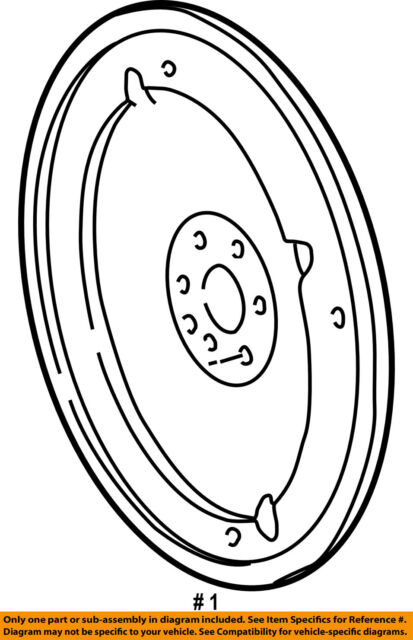 Ford Oem Automatic Transmission Flexplate Drive Plate 4c3z6375aa For