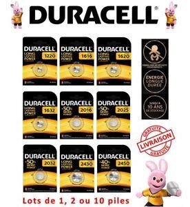 Piles Duracell CR 1220 1616 1620 1632 2016 2025 2032 2430 2450 bouton lithium 3V