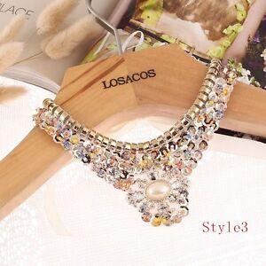 Women-Fashion-Vivid-Glass-Beads-Sequins-Collar-Necklace-Choker-Statement-Jewelry