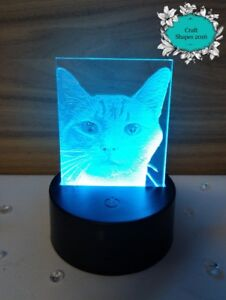 Details about Personalised Acrylic LED Light Up Photograph / Light Up  Picture, Engraved Photo