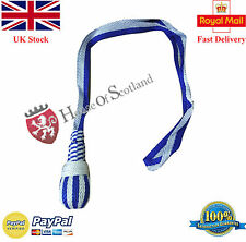 BRITISH OFFICER SWORD KNOT WHITE & BLUE/NAVY SWORD KNOT/INFANTRY OFFICER KNOT