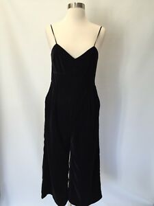 f6177877321a Image is loading NWT-Jcrew-Petite-cropped-velvet-jumpsuit-Black-Size-