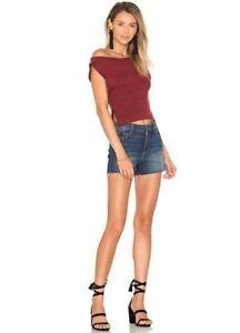 0173d81048 PAIGE MARGOT CHECKER High Waist Denim Cut Off Shorts Size 30 NWT | eBay