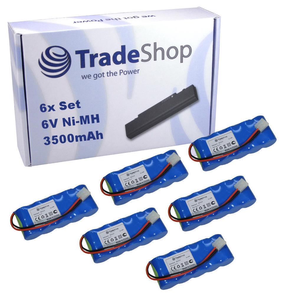 6x Trade-Shop AKKU 6V 3500mAh Ni-MH für Bosch Somfy EasyLift BD 5000 BD 6000