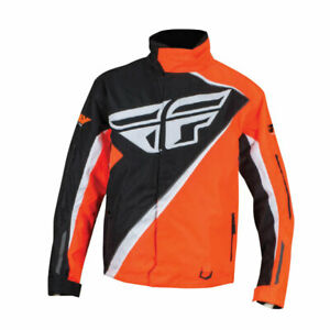 FLY-RACING-SNO-CROSS-SNOWMOBILE-JACKET-SIZE-LARGE-ORANGE-BLACK