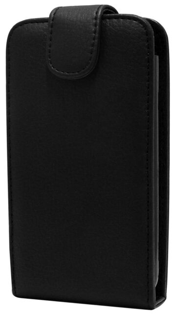 HTC Sensation XL Fitted Leather Flip Wallet Case in Black ALC5450 Brand New