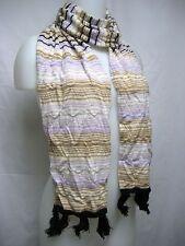 ITALY MISSONI Foulard Lana Merino Wool 9x66 Women Long Scarf Lady Stylish Gift