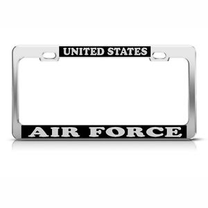 United States Air Force Heavy Duty Chrome License Plate