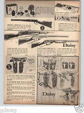 1966 PAPER AD Mattel Daisy Toy Cowboy Holster Gun Sets Agent Zero Air Rifle BB