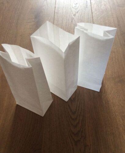 Blanc Papier Kraft Bloc Bas Doux Sacs Grands et petits