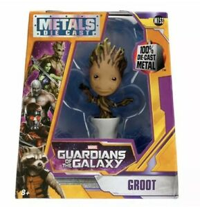 Marvel-Guardianes-de-la-galaxia-en-Maceta-Groot-4-034-metales-Die-Cast-Figura-Jada