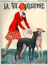 1928 La Vie Parisienne French Greyhound Dogs France Travel Advertisement Poster
