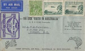 AFC116-First-official-airmail-cover-Australia-New-Zealand-10-April-1934