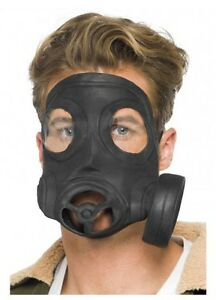 Adult-Gas-Mask-Fancy-Dress-Costume-Party-Accessory-New-With-Mock-Respirator