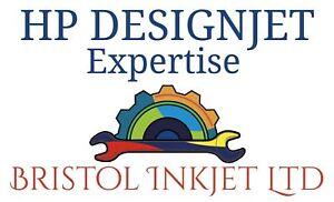"""Bien Q1251-60254 Hp Designjet 5000/5500 42"""" Dye Ink Tube Système Reconstruit De 2 Ans Wny-afficher Le Titre D'origine"""