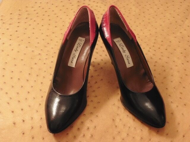 Descuento barato BELLE CHAUSSURE ESCARPIN LADY SARA TOUT CUIR VINTAGE 1980 STOCK NEUF T.37.5