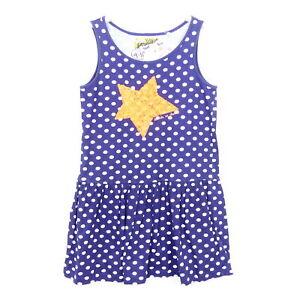 DESIGUAL Kleid Sommer Punkte Pailletten Stern Blau Gr. 134 ...