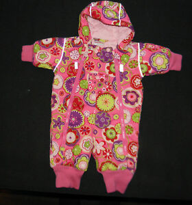 c70d8a7ee Image is loading HANNA-ANDERSSON-PINK-QUILTED-FLOWER-SNOWSUIT-BUNTING-BABY-