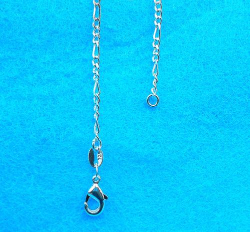 10X Design Jewelry Findings FIGARO 925 Plaqué Argent Collier Chaîne Pour Pendentif
