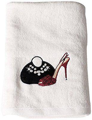 Saturday Knight Chantilly Bath Towel handbag and stilettos