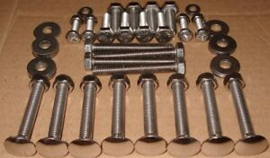 Volkswagen-Type-3-Variant-STAINLESS-Early-Bumper-Bolts-Air-Cooled-VW-Fastback-T3