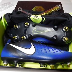 8c9a13db0efc Mens Nike Magista Opus II SG-PRO Anti Clog Soccer Cleats Sz 9 Blue ...
