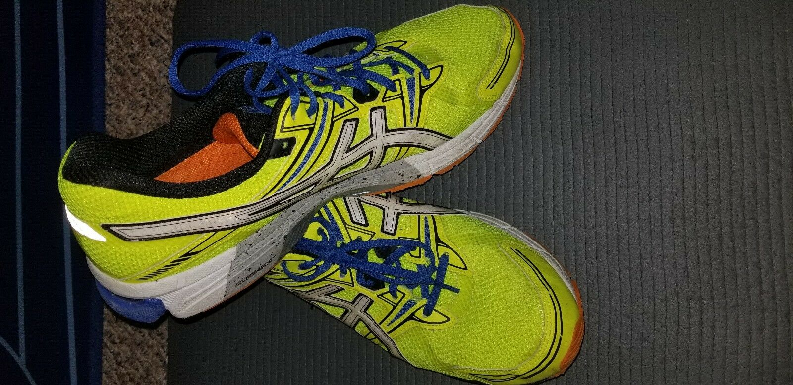 Men's ASICS GEL-GT-1000 Highlighter Running shoes-  Excellent Cond sz 14