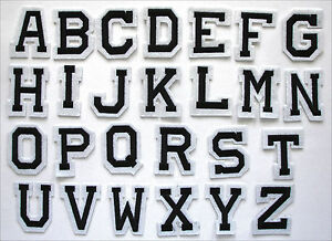 Image is loading Embroidered-Iron-on-Adhesive-Stick-patch-Alphabet-Letters-