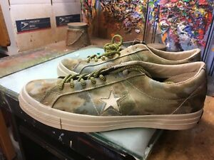 7197565a224d Converse One Star OX  74 Brookwood White Pepper Camo Size US 10.5 ...