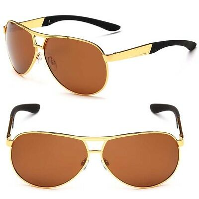Men's Polarized Metal Sunglasses Drving Eyewear Retro Pilot Outdoor Glasses
