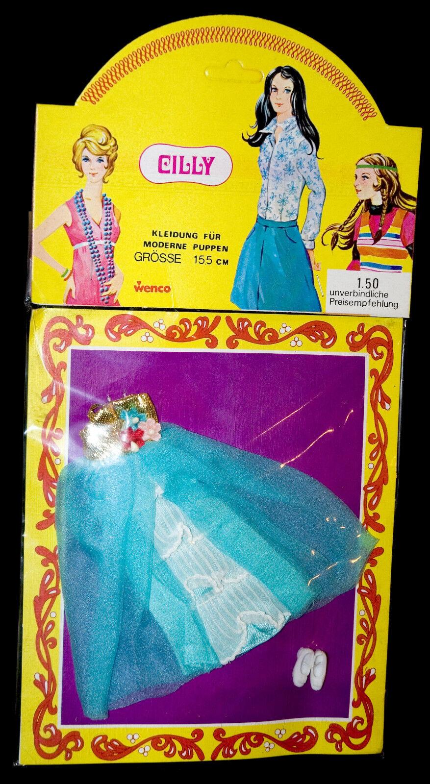 Cilly Vintage 70s Topper Dollhouse Muñeca Rara Simular Traje 15cm Ropa de la