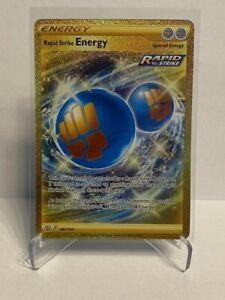 Rapid Strike Energy - Secret - 182/163 - Gold - NM/M - Pokemon - Pack Fresh