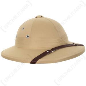 French-Tropical-Pith-Helmet-Khaki-Colonial-Explorer-Adventurer-Safari-Sun-Hat