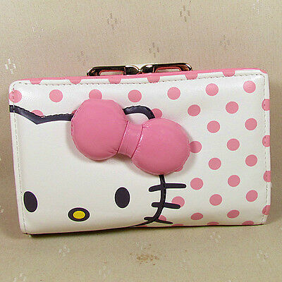HelloKitty Hasp  Wallet Purse 2017  New Cute Pu Bow Pink Middle  Size