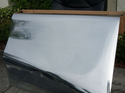 "24/"" wide x 6 feet ONE WAY MIRROR FILM  REFLECTIVE SILVER 20/% WINDOW TINT FILM"