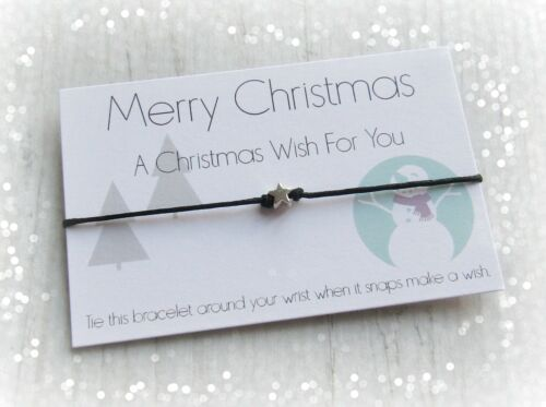 Merry Christmas A Christmas Wish For You Star Charm Wish Bracelet & Envelope