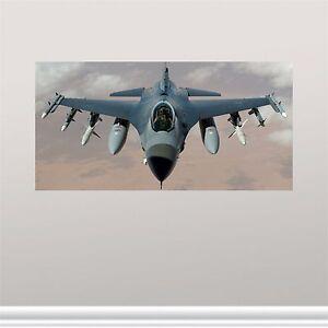 12 x24 air force f 16 falcon viper aircraft wall art for Decor 6 form air force