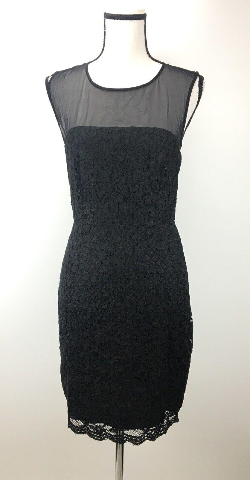 NWT DVF Diane von Furstenberg Sheath Dress Größe 8 Sleeveless Floral schwarz