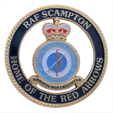 B2.3304 Royale Classic Car Grill Badge RAF SCAMPTON HOME OF THE RED ARROWS