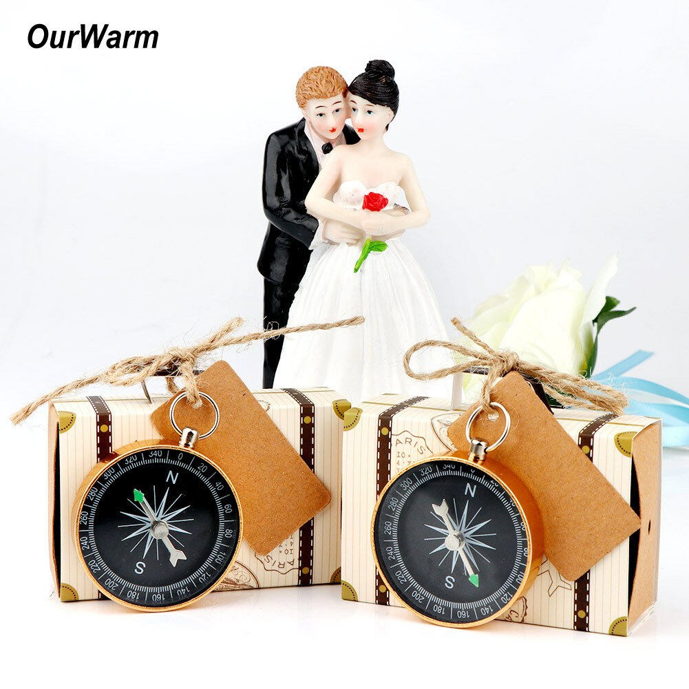 10pcs Compass & Bookmarks Party Favors Wedding Souvenir Guests Gifts ...