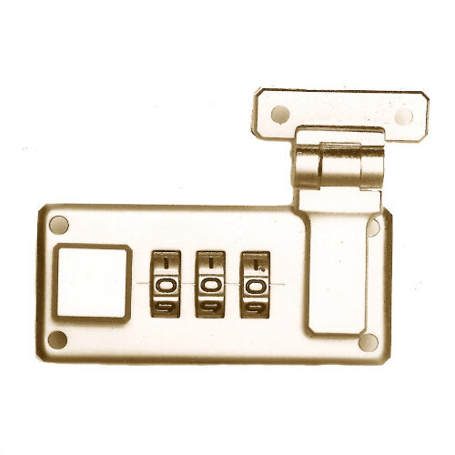 Replacement Combination Lock in Polished Brass Plate 1 Pair