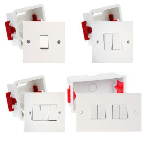 35mm Dryliner Back Box Plasterboard Electrical Switch Light Switch 1G 2G 3G 4G