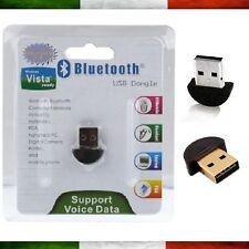Bluetooth USB Penna Wireless Pc Notebook Chiavetta Adattatore Windows 7 8 10 XP