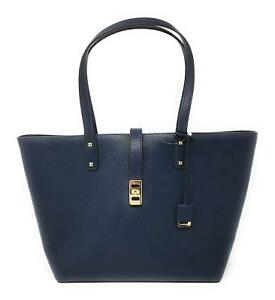 NWT-Michael-Kors-Karson-Large-Leather-Tote-Navy-Special-Order