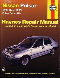 haynes worshop repair manual nissan pulsar n14 91 95 ebay rh ebay com nissan pulsar n14 workshop manual pdf nissan pulsar n14 workshop manual free download